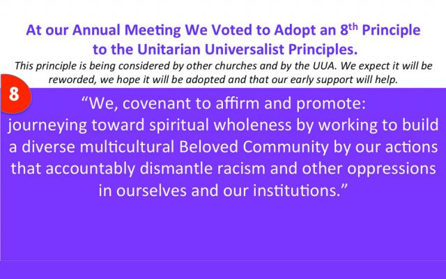 How to Support the 8th Principle of Unitarian Universalism